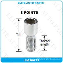 8 Points Tuner Lug Bolts for Car Wheel
