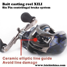Six Pin Centrifugal Brake System Bait Cast Reel