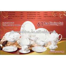 Patrón de la India Paquistán 60pcs 61pcs 72pcs AB grado platos de cerámica fina real de la porcelana y placas