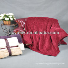 ultra soft&warm fashion embossed quilt