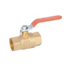 Latão Forjado válvula de esfera de água com punho de aço (YD-1021)