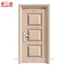 Residencial Moden Steel interior puerta de la sala de metal estampado galvanizado piel suave en relieve