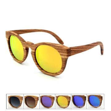 Óculos de sol de madeira vintage quente com óculos escuros de cabeça de madeira e óculos de sol