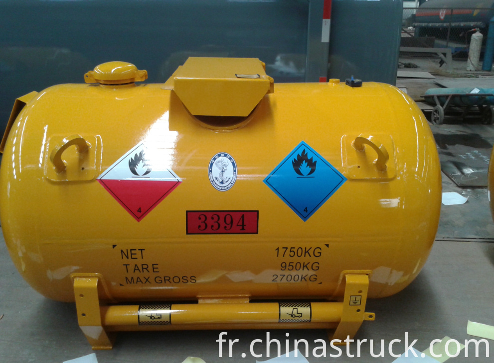 Portable tanker for Triethyl aluminium