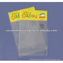 Bolsas plásticas que se pueden volver a sellar del agujero de caída para el embalaje del regalo de Navidad