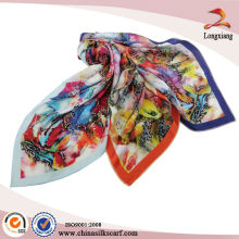 Pantalla Impreso Lady Pure Silk Shawl Lastest Diseño