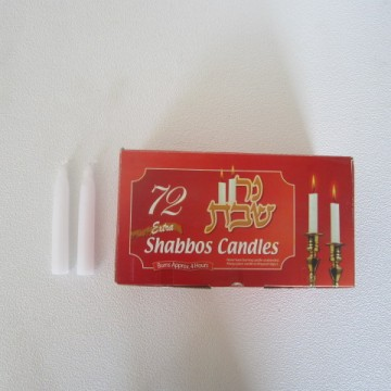 Paraffin Shabbos Candles for religion party