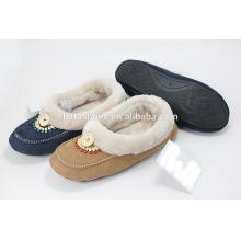 Пена памяти тапочки женская обувь домашняя обувь loafer с деревянными бусинами