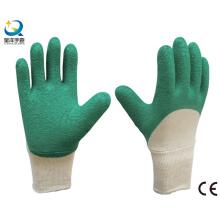 Tricoté au poignet, Latex 3/4 Crinkle Revêtu du gant de travail