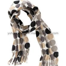 Nuevo invierno caliente tejiendo impreso Polar Fleece Lady Scarf