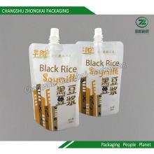 Stand up Spout Packaging Bag para suco de leite