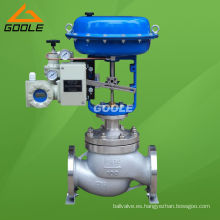 Válvula reguladora de presión neumática de asiento único tipo globo (GHTC)