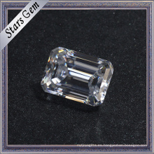 Precio de consulta 10 * 14mm Clear White Emerald Cut Moissanite Diamond