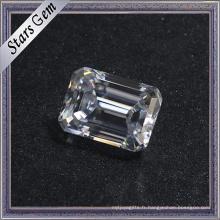 2.0 Carat prix abordable usine en gros émeraude coupé blanc Moissanite diamant pour bijoux