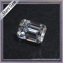 2.0 Carat Affordable Price Factory Wholesale Emerald Cut White Moissanite Diamond for Jewelry