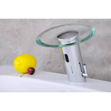 Tempered Glass Automatic Faucet with Button