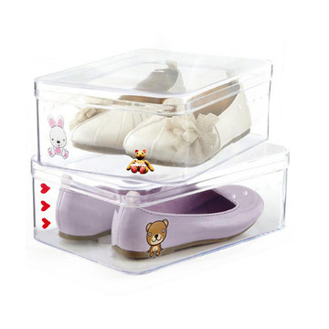 Fertigen Sie klare Vitrinen-Schuh-Kasten für Kinder besonders an