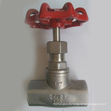 Válvula de globo de acero inoxidable 200wog Bsp Final del hilo