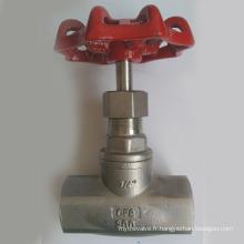 Dessin de valve de globe de filetage femelle en acier inoxydable