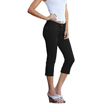 Frauen, die Stretchy Denim Capri perfekt formen