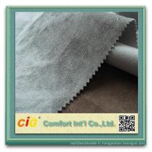 Tissu en suède 100% polyester pour rembourrage pour rouleaux de suède de voiture