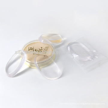 Soplo de polvo cosmético transparente del gel de silicona del maquillaje directo de la venta 2017 de la fábrica