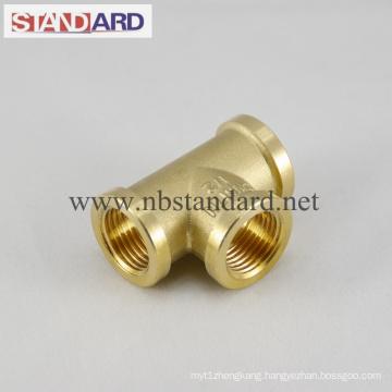 Female Thread Tee of Brass Plumbing Fitting