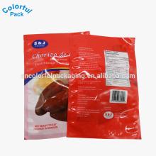 Três lados selam o saco plástico plástico transparente do armazenamento do vácuo da embalagem do alimento da laminação de nylon