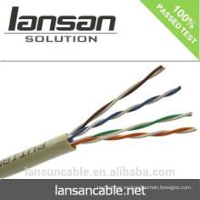 Cable de red de la alta calidad Utp 24awg Cat5e de la alta calidad del precio de fábrica de la certificación de Ce Rohs del Iso