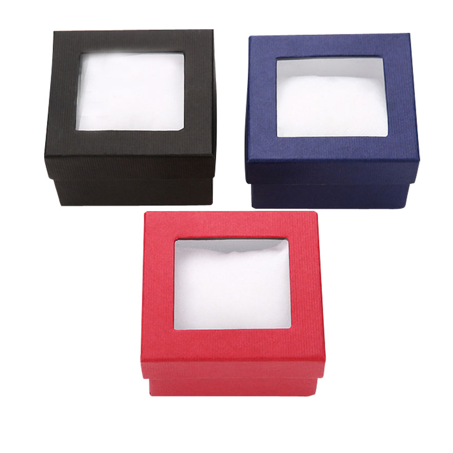 Luxury retail watch box with window