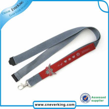 Funny Silk Screen Printing Nylon Lanyard