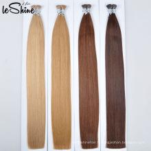 100% de cheveux brésiliens de la Vierge 11A, cheveux de Leshine, prolongements de cheveux d'Itip