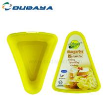 изготовленный на заказ логотип треугольник пластиковая коробка для торта для хранения еды