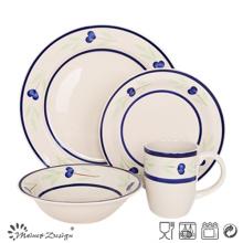 Juego de cena de cerámica del diseño simple 16PCS uso en el hogar