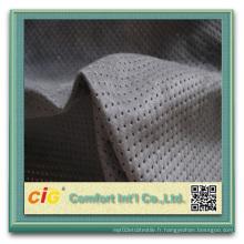 100% polyester en suède pour ameublement en microfibre en suède