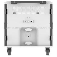 Fuente de alimentación inteligente inteligente del carro de carga de ZMEZME para la oficina, gabinete de carga del carro de carga del ordenador portátil del fabricante en aula