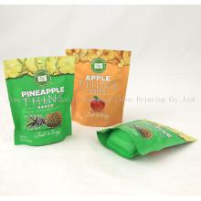 Empaquetado plástico impreso de encargo Levántese la bolsa de Ziplock, la viruta de la patata / los bolsos del bocado con el propio logotipo, bolsos del alimento