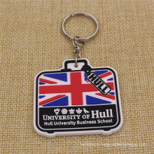 Supply Fashion Cheap Soft PVC Keychain for UK University
