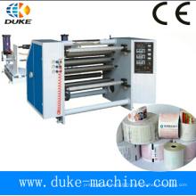 Machine de rembobinage thermique à haute précision de haute précision à haute vitesse 2015, rebobineuse de papier à papier, rebobinage de papier autocopiant (DK-FQJ)
