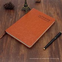 Cuaderno de cuero con logotipo de Deboss
