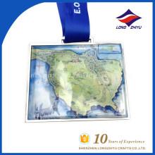 LZY Medalla al por mayor del logotipo de la impresión del recuerdo de encargo