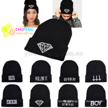 Mulheres Mens Unisex Inverno Quente Knit Hat Moda Cap Hip-hop Ski Beanie Hat