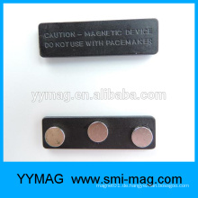 Metall & Kunststoff Magnet Name Abzeichenhalter