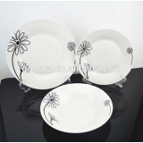 wholesale cheap porcelain plate for daily use, banquet, hotel