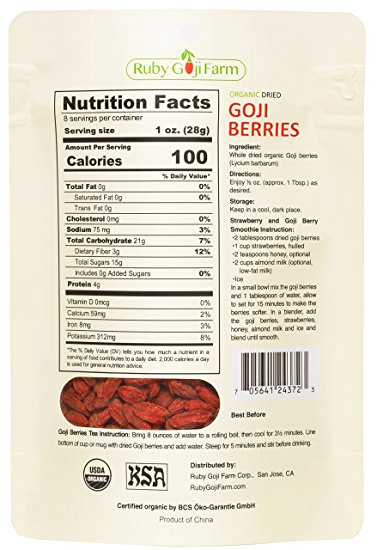 Pakej 8oz Goji Berry Ruby Goji Farm