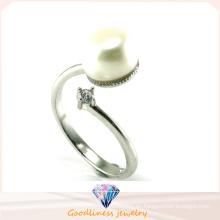 2015 Joyería de plata de la manera del anillo de la perla de la alta calidad 925 (R10443)