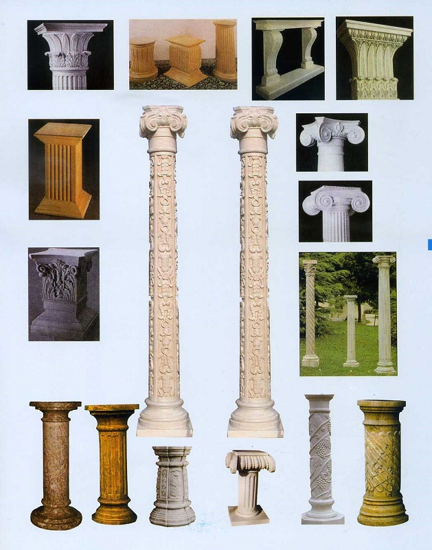 decorative stone columns