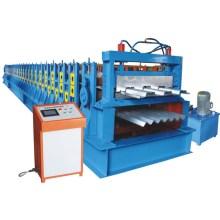 Galvanized steel floor deck machine