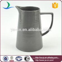YSj0007-02 Hot sale embossed stoneware jug