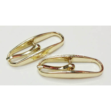 Imitation Gold Pin Buckle, Unique Center Bar Buckle 10mm